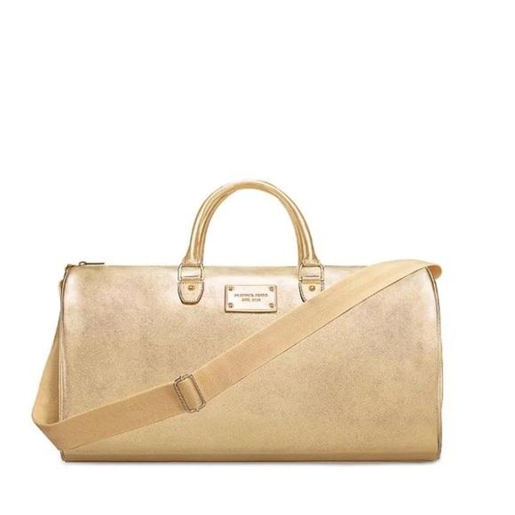 7f65fffcdb New Michael Kors metallic Gold Duffle Bag Tote